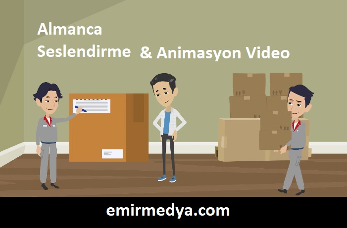Almanca Seslendirme ve Animasyon Video